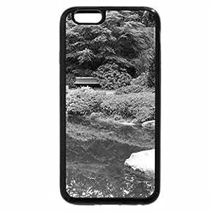 iPhone 6S Plus Case, iPhone 6 Plus Case (Black & White) - Garden Pond