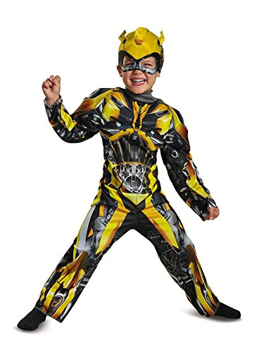 Disguise Bumblebee Movie Toddler Muscle Costume, Yellow, Small (2T) -