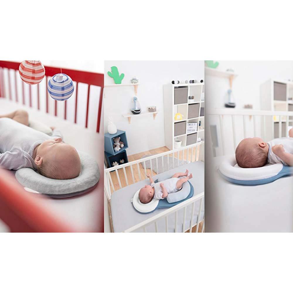 Beige Baby Safe Schlafmatte S/äuglingskopf Positionierer Nackenst/ütze,verhindern flaches Kopf-Syndrom