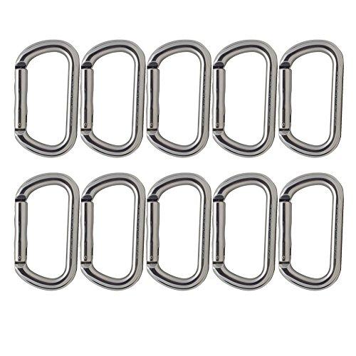 Fusion Climb Supreme II Aluminum Oval-Shape Carabiner 10-Pack by Fusion Climb