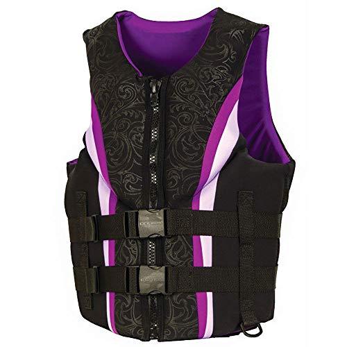 - MRT SUPPLY Womens Purple Neo Impulse Biolite Wakeboard Life Vest, Adult Large with Ebook