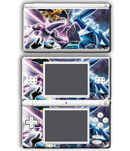 Pokemon Go Pikachu Dialga Palkia Diamond Pearl Video Game Vinyl Decal Skin Sticker Cover for Nintendo DS Lite (Nintendo Ds Skin)
