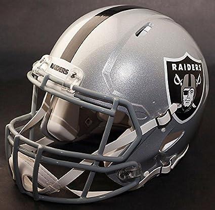 3eb61588fa9cc Riddell Speed Oakland Raiders NFL Replica - Casco de Fútbol con Casco de  Fútbol S2BDSP