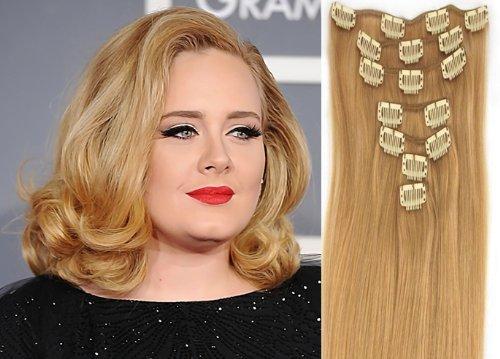 World Pride Модные прямой зажим в наращивание волос 20 дюймов 70 грамм № 27 Блондинка клубники