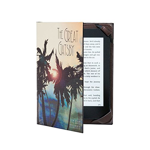 Universal Kindle eReader Case Classic Book Cover (Compatible with Paperwhite 2018) (Great Gatsby) (Classic Book Cover)