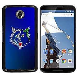 Impact Case Cover with Art Pattern Designs FOR NEXUS 6 / X / Moto X Pro Cool Neon Wolf Werewolf Betty shop