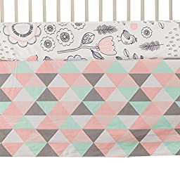 Lolli Living Sparrow 4-Piece Crib Set – Colorful Bedding Coordinates For Baby Nursery, Made From Lightweight, Breathable 100% Premium Cotton, Fits Standard Crib