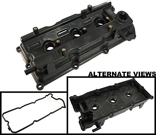 Front Valve Plug (APDTY 375096 Valve Cover w/ Gasket & Spark Plug Tube Seals Fits Front / Left Bank Of 3.5L Engine 2002-2004 Infiniti I35 02-06 Nissan Altima 02-08 Maxima 03-07 Murano 04-09 Quest (Replaces 13264-8J113))