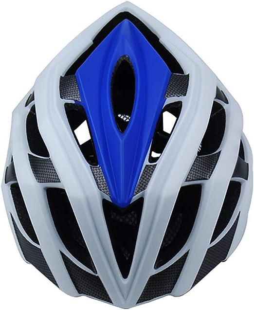 shuhong Casco Bicicleta Casco Ciclismo Ruta Transpirable Montaña Integral Casco De Bicicleta De MTB para Triatlón De Forma Segura,White-M: Amazon.es: Hogar