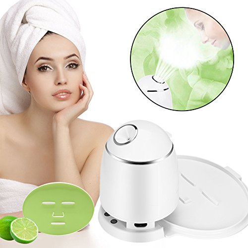 2in1 Ionic Facial Steamer And Fruit Mask Machine, Multi-function DIY Natural Fruit Vegetable Mask Maker, Hot Mist Moisturizing Personal Skin Care Beauty Tool (Non nozzle Machine with Collagen)