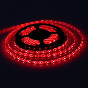 Amazon led light bar 300 led waterproof flash led strip 5m smd xkttsueercrr waterproof red led 3528 smd 300led 5m flexible light strip 12v 2a 24w 60led aloadofball Image collections