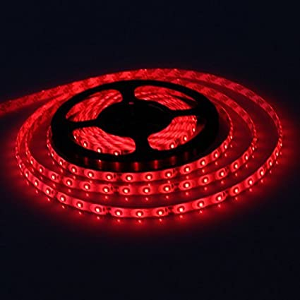 Amazon xkttsueercrr waterproof red led 3528 smd 300led 5m xkttsueercrr waterproof red led 3528 smd 300led 5m flexible light strip 12v 2a 24w 60led mozeypictures Images