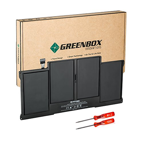 GreenBox Innovations New Laptop Battery for Apple A1377 A1369 (Late 2010 Mid 2011 Mid 2012 Mid 2013 Early 2014) Macbook Air 13 inch, also fit A1405 A1466 A1496 661-5731 MC503 MC504 [Li-Polymer / 55Wh]