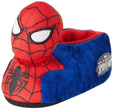 Marvel Boy's Ultimate Spiderman? 1SPF226 Sock Slipper (Toddler/Little Kid) Blue/Red Slipper SM (5/6 Toddler) M
