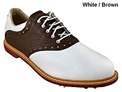Ashworth Kingston Golf Shoes 2014 Whitetan Brownbordeaux Medium 11