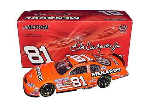 59c3d398 AUTOGRAPHED 2005 Dale Earnhardt Jr. #81 Menard Racing Team NEON ORANGE CAR  (Busch