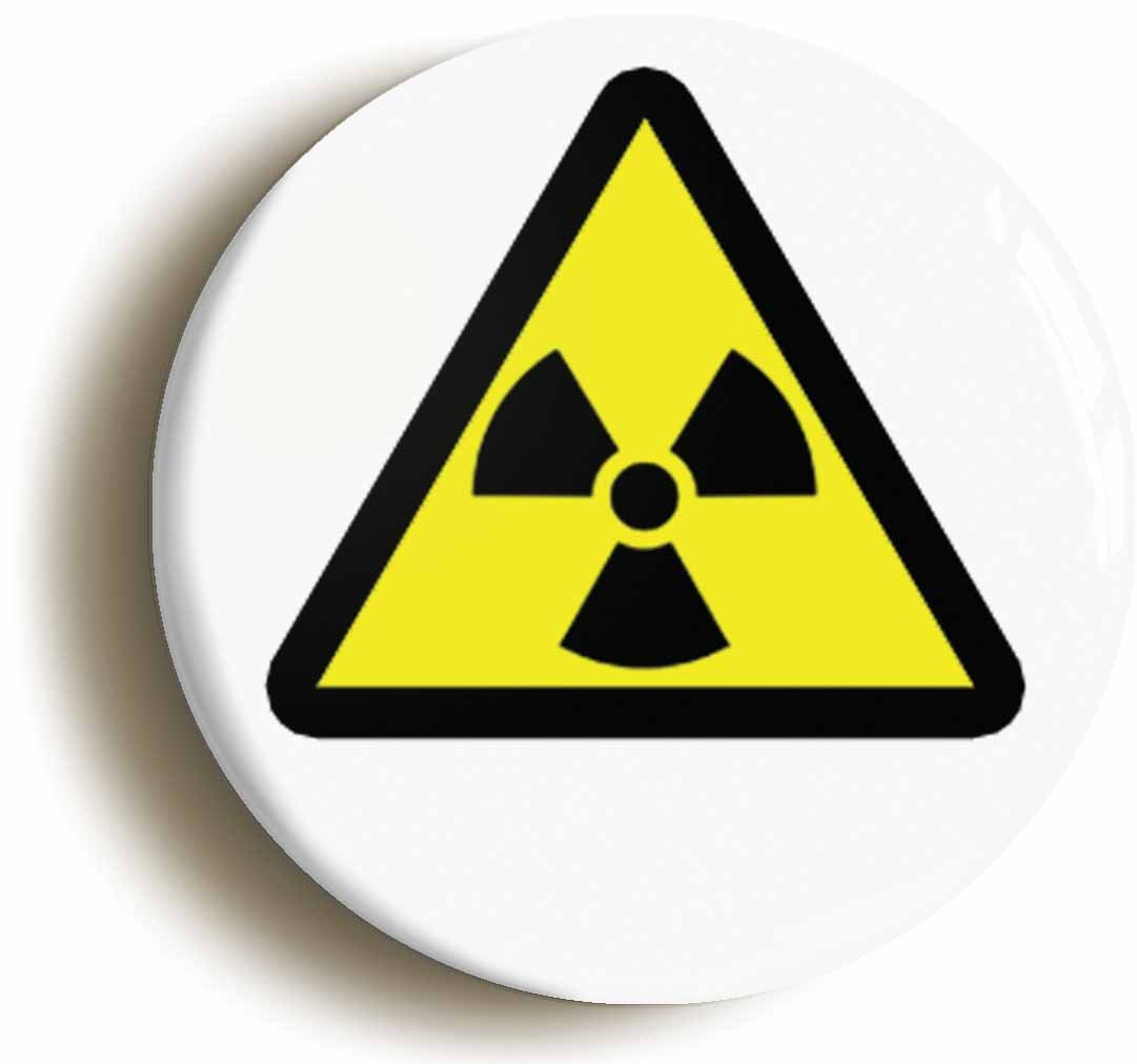 Radioactive hazard science symbol badge button pin size is 1inch radioactive hazard science symbol badge button pin size is 1inch25mm diameter amazon toys games buycottarizona Image collections