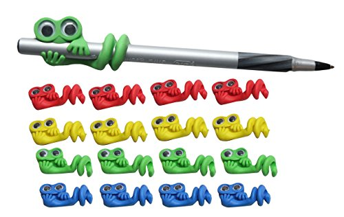 Curious Minds Busy Bags 12 Cute Character Pencil Wraps - Sensory Fidget Toy for Students, Adults and Children Office Calming Toy (Character Education Puzzles)