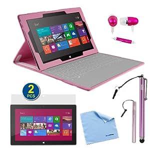 Amazon.com: BIRUGEAR Pink Keyboard Portfolio Stand Case
