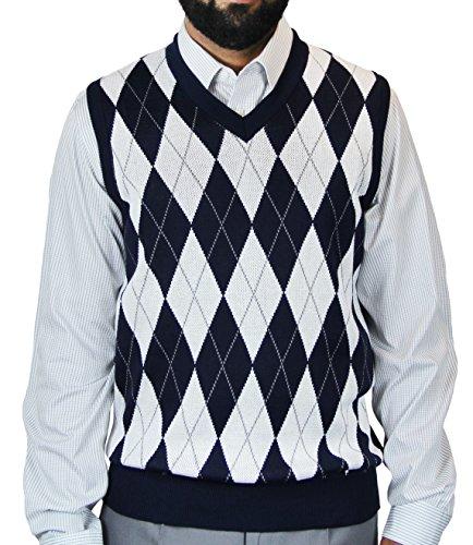 Blue Ocean Big Men Argyle Jacquard Sweater Vest-4X-Large - Mens Jacquard Vest