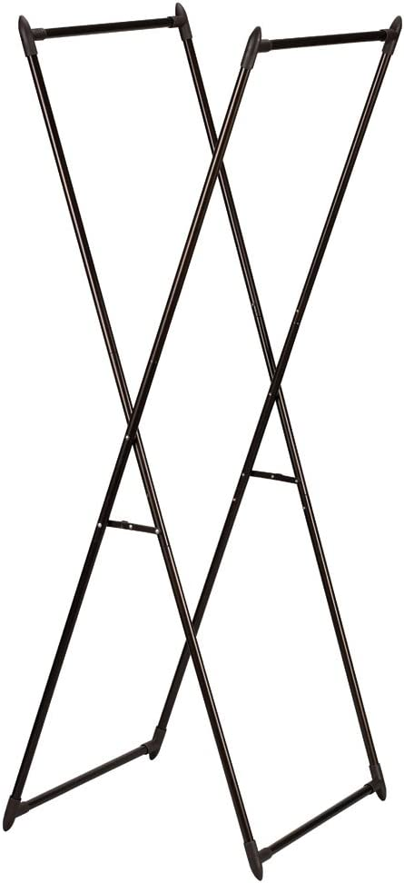 Household Essentials 5277 Laundry Valet Garment Rack | Drying Rack | Bronze