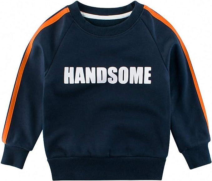 Snyemio Bébé Garçons Enfants Sweat Shirt Hiver, Manches Longues Sport Dinosaure Pull Tops Vêtements Automne Filles 1 7 Ans
