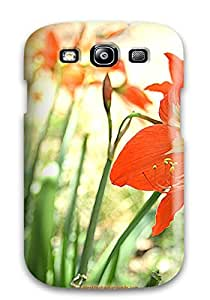 Tpu Shockproof/dirt-proof Pretty Orange Flower Cover Case For Galaxy(s3)