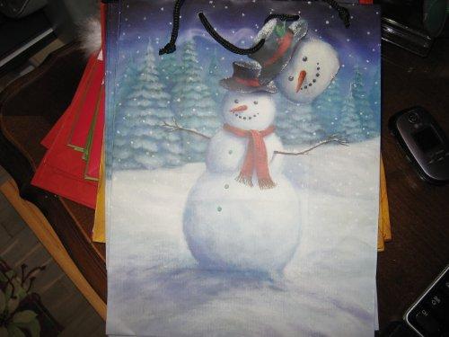 - BAG GIFT SNOWMAN IN FIELD MEDI
