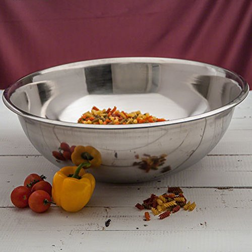 TrueCraftware - 1 Heavy Duty Extra Large Stainless Steel Mixing Bowl - 30 Quarts by TrueCraftware