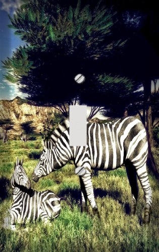 (Wild Zebras Switchplate - Switch Plate Cover)