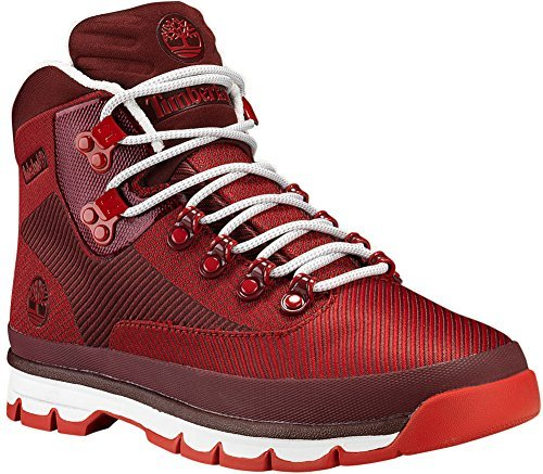Euro Hiker Men Hiking Boot (Timberland EURO Hiker Jacquard Mens Red Synthetic Hiking Boots Shoes 8)