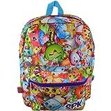 Shopkins Chef Club Print Large School Backpack - SPK Front Pocket Girls Book Bag - Multicolored
