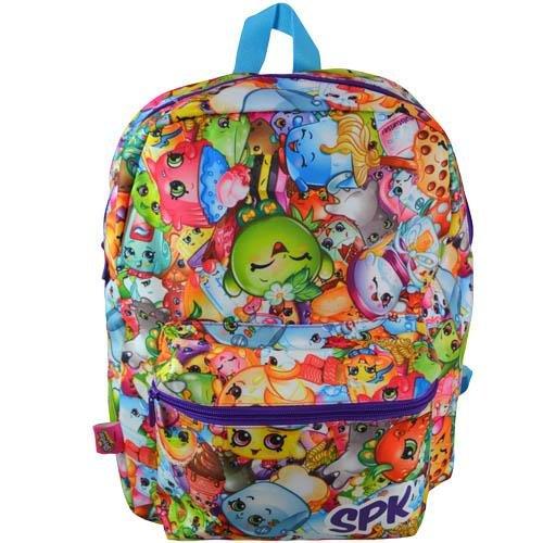Shopkins Chef Club Print Large School Backpack - SPK Front Pocket Girls Book Bag - Multicolored Global Design Concepts