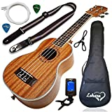 Ukulele Soprano Size Bundle From Lohanu (LU-S) 2 Strap Pins Installed FREE Uke Strap Case Tuner Picks Hanger Aquila Strings Installed Free Video Lessons BEST UKULELE BUNDLE DEAL Purchase Today!