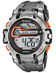 Armitron Sport Men's 40/8341GRY Digital Gray Resin Watch with Textured Band