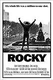 Rocky 1 Movie Poster Sylvester Stallone 36x24 Art Print Poster Wall Decor Philadelphia PA Boxing Talia Shire Burt Young Carl Weathers Burgess Meredith Underdog hero Story