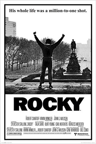 Rocky 1 Movie Poster Sylvester Stallone 36x24 Art Print Post
