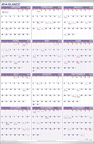 At-A-Glance 24 x 36 Inches Yearly Wall Calendar for 2015 (PM1228)