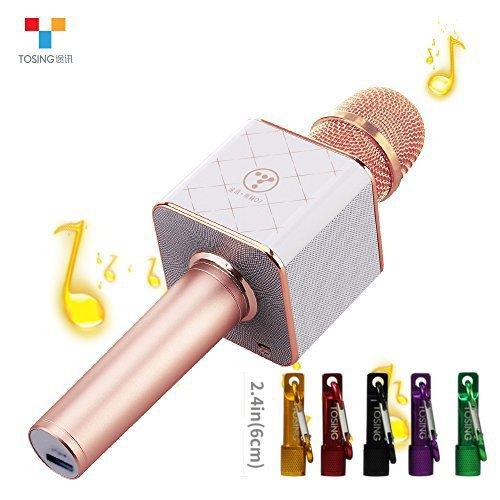 Speaker TOSING Q7 senza fili del microfono di karaoke Bluetooth 2-in-1 portatile Canta & Recording KTV lettore portatile Mini casa KTV del sistema musicale Macchina per iPhone / Android Smartphone / T