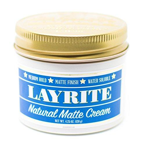 Layrite Natural Matte Cream Pomade, 4.25 oz.