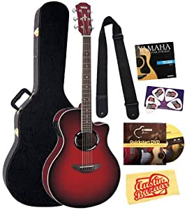 yamaha apx500 acoustic electric guitar bundle with yamaha hard case dvd picks. Black Bedroom Furniture Sets. Home Design Ideas
