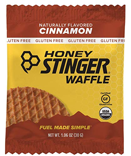Free Honey - Honey Stinger Organic Gluten Free Waffle, Cinnamon, Sports Nutrition, 1.06 Ounce (16 Count)