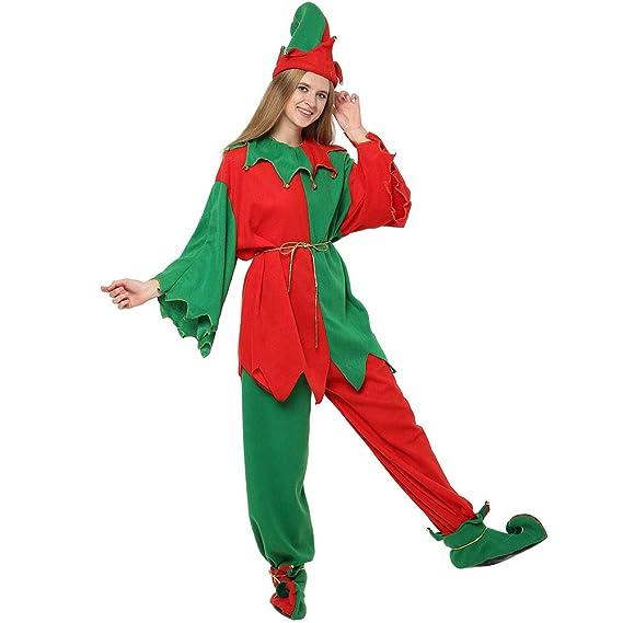 Disfraz De Elfos Adultos Traje De Navidad para Mujer Traje De ...