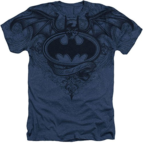 Batman Dark Knight Winged Logo DC Comics Sublimated Adult Heather T-Shirt Tee