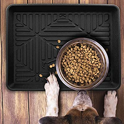 Cat Box FH Group F16407BLACK-20 Multi-Purpose Pet Feeding Tray Dog Bowl... [tag]