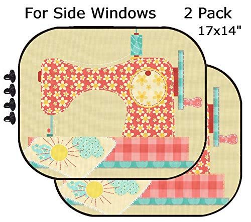 MSD Car Sun Shade - Side Window Sunshade Universal Fit 2 Pack - Block Sun Glare, UV and Heat for Baby and Pet - Image 11913845 Sewing Machine Patchwork Vintage Series
