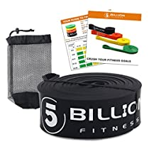 5BILLION Resistance Bands & Pull up Assist Band - Strength Bands & Mobility Bands for Body Stretching, Powerlifting, Resistance Exercise, Fitness