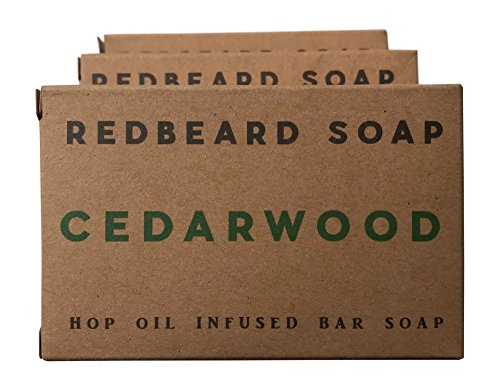 Redbeard Soap Men's Hop Oil Soap Bar Sampler Pack (3 Bars) – Cedarwood, Citrus Eucalyptus, Lemongrass Bars – Organic Soap for Men (3 Bar Bundle (Lemongrass Scented Body Scrub)