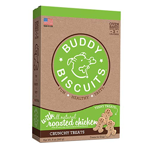 Cloud Star Itty Bitty Buddy Biscuits Dog Treats, Roasted Chicken Madness, 8-Ounce Boxes (Pack Of 6)