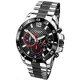 SEKONDA Unisex-Adult Quartz Watch, Chronograph Display and Stainless Steel Strap 3420.27